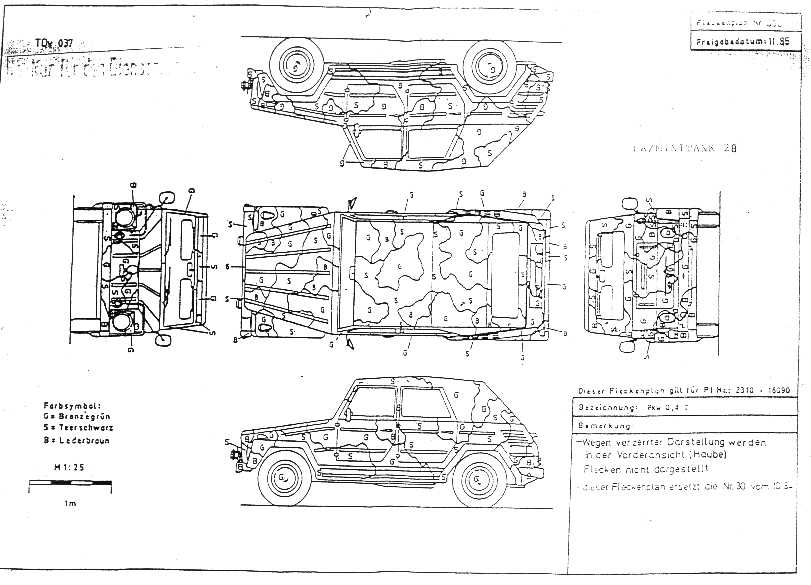 vw 181 fleckenplan dastank com vw thing type 181 rh dastank com 74 VW Thing Wiring Schematic VW Thing Wiring Harness