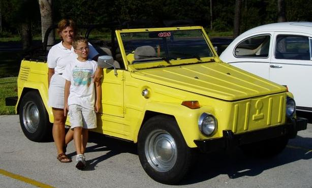 Debbie and Gavin's 1973 VW Thing in Jacksonville Beach, Florida