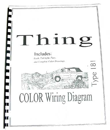 1973 VW Thing Wiring Diagram DasTankcom VW Thing Type 181